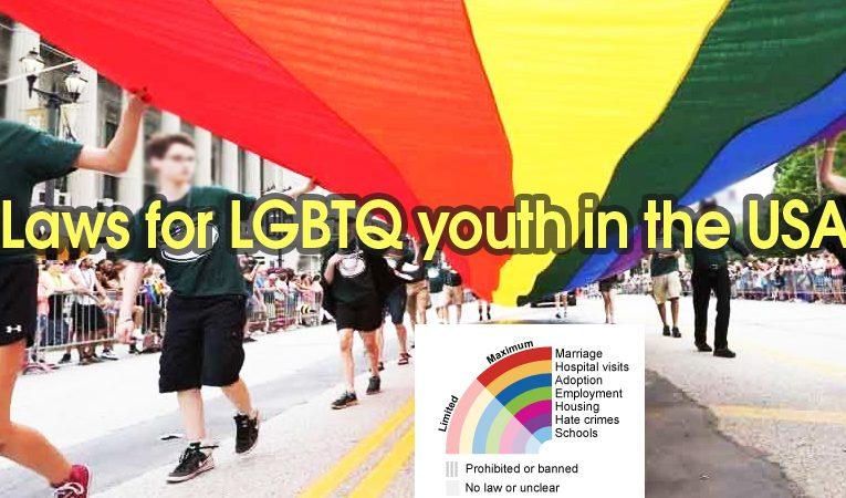 Laws for 🌈 LGBTQ youth in the USA